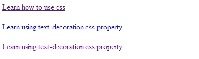 css text-decoration property - howtousecss